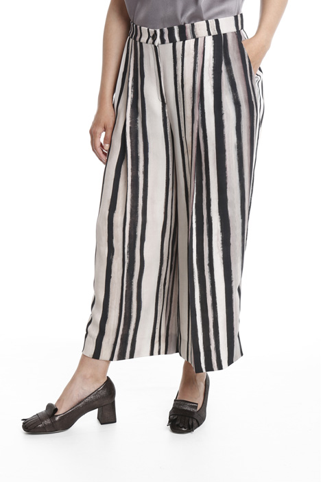 Cropped cady trousers Diffusione Tessile