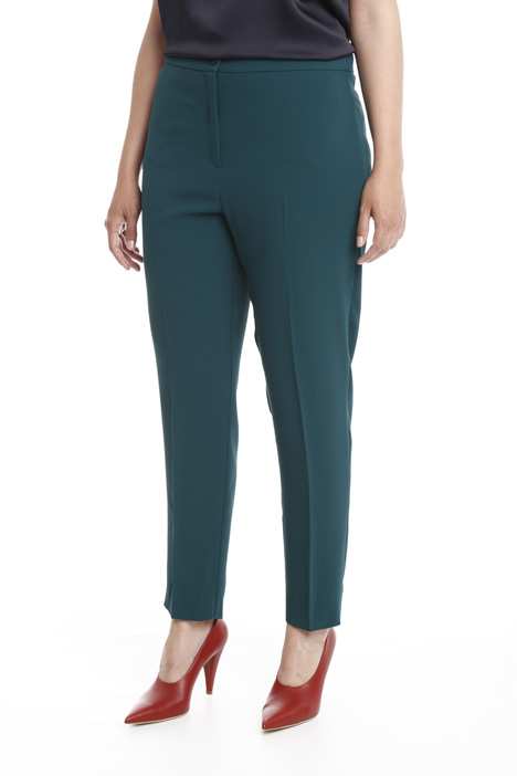 Slim fit trousers in crepe fabric Diffusione Tessile