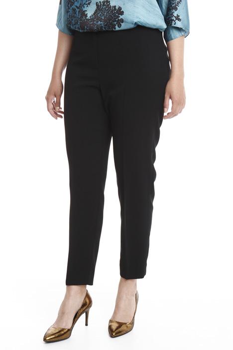 Pantalone slim in crepe Diffusione Tessile