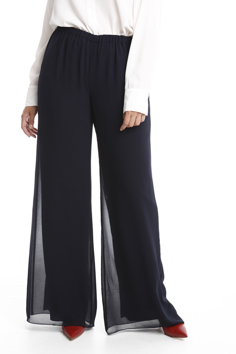 Wide-leg georgette trousers Diffusione Tessile