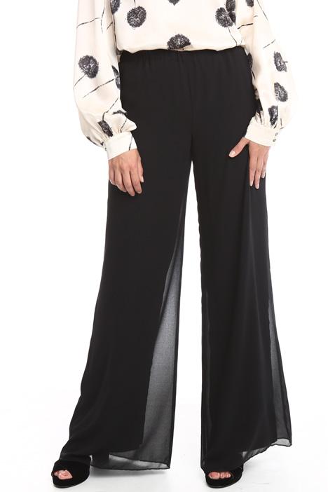 Wide-leg georgette trousers Diffusione Tessile