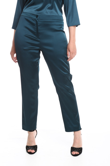 Stretch satin trousers Diffusione Tessile
