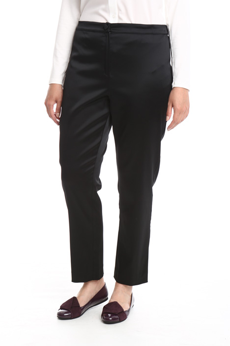 Pantalone in satin stretch Diffusione Tessile