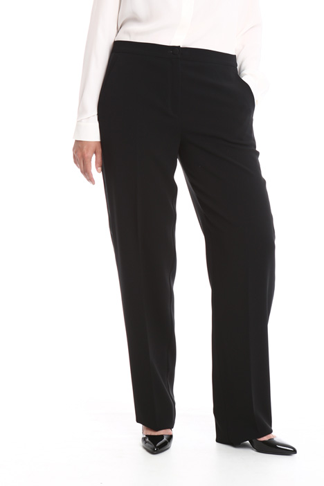 Straight leg cady trousers Diffusione Tessile