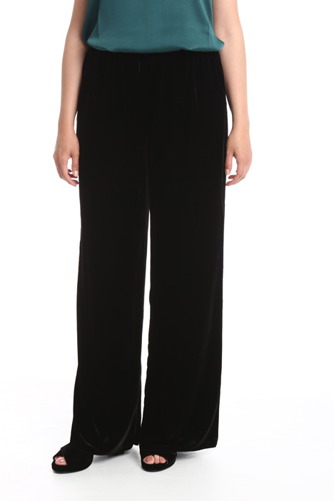 Wide-leg velvet trousers Diffusione Tessile