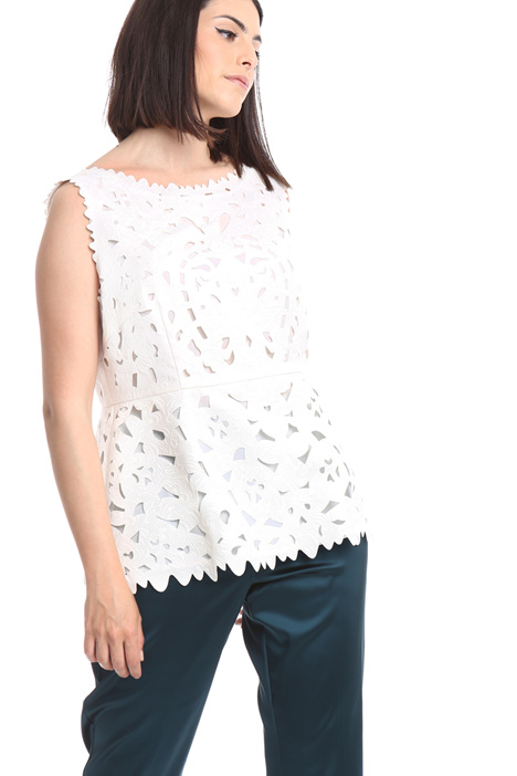 Laser-cut sleeveless top Diffusione Tessile