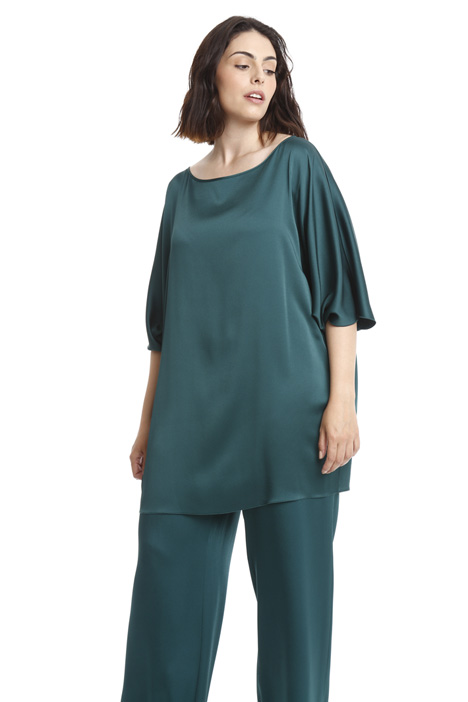 Tunic in glossy fabric Intrend