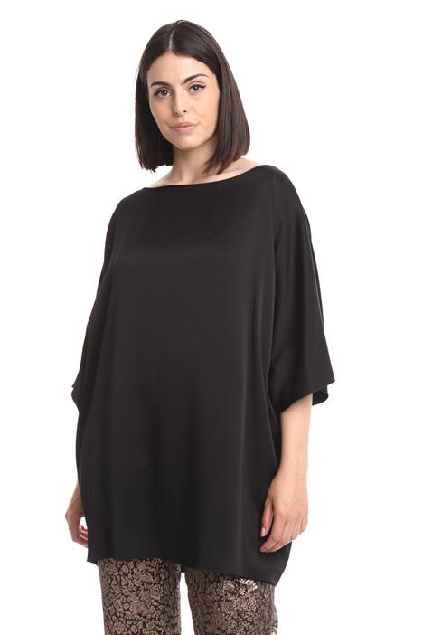 Tunic in glossy fabric Diffusione Tessile