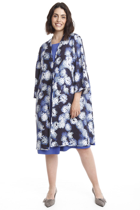 Silk crepe duster coat Diffusione Tessile