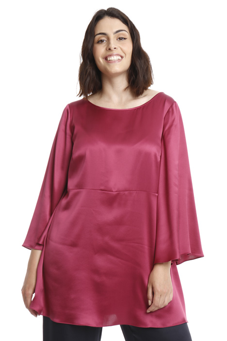 Flared silk tunic Intrend