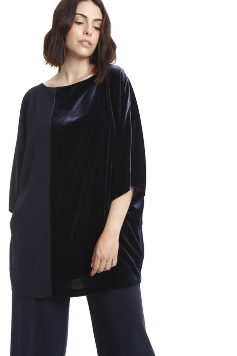 Cady and velvet tunic Diffusione Tessile