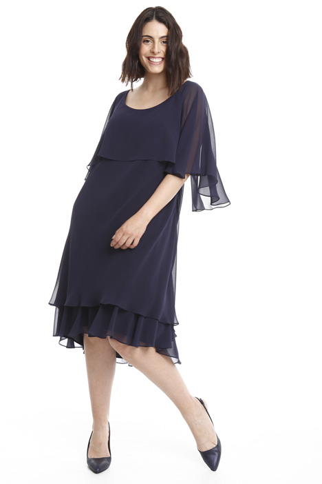 Dress with georgette flounce Intrend