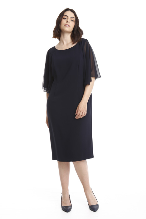 Triacetate longuette dress Intrend
