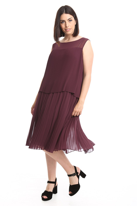 Sleeveless plissé dress Diffusione Tessile