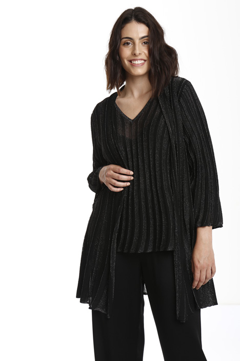 Ribbed knitted cardigan Diffusione Tessile