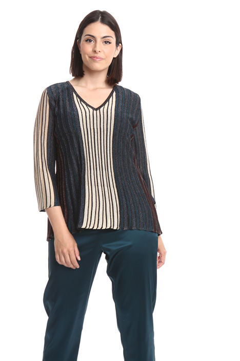Ribbed lurex sweater Diffusione Tessile