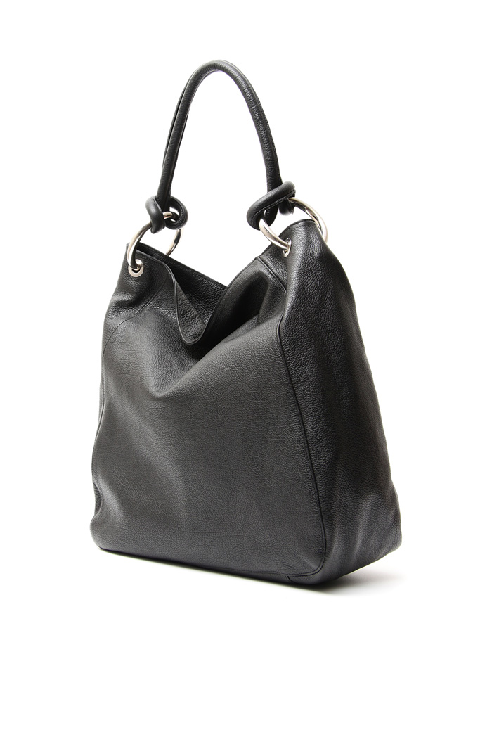 Shopping bag in pelle Diffusione Tessile