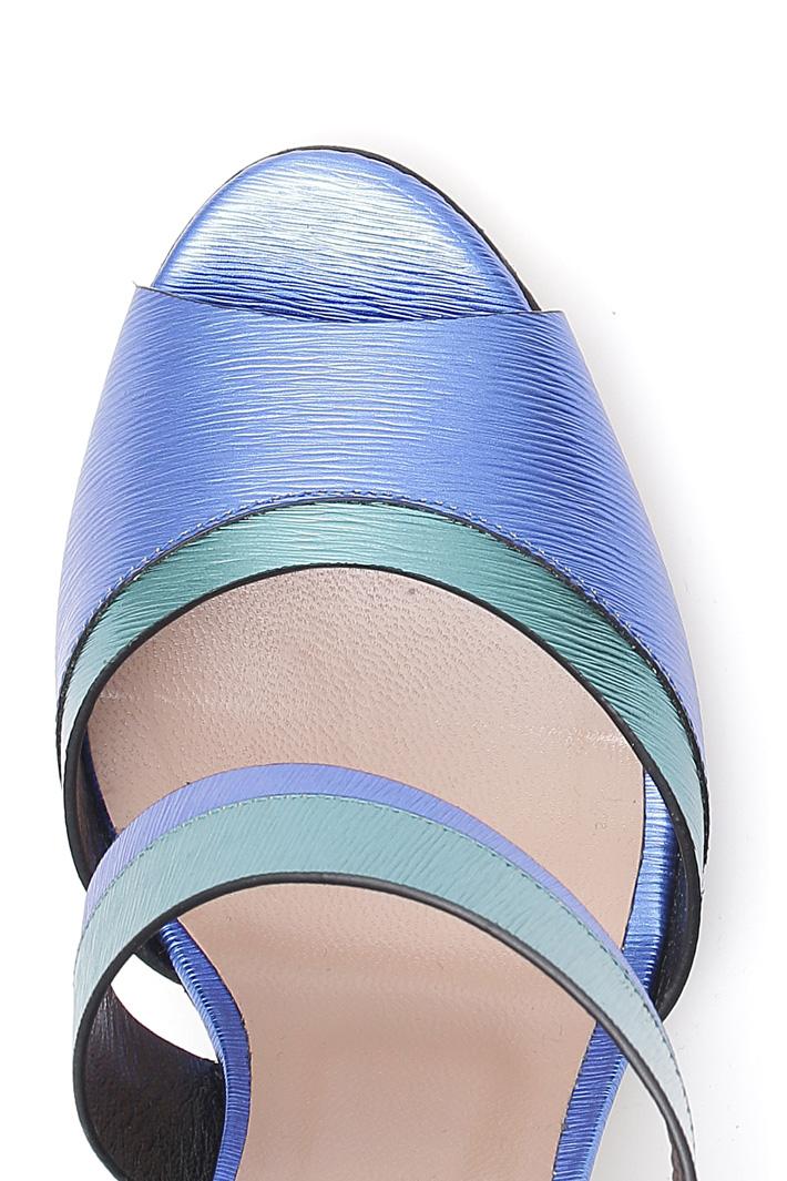 Sandali con stampa graffiata Diffusione Tessile