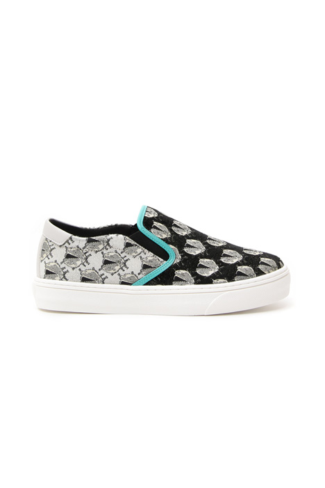 Lamé jacquard sneakers Intrend