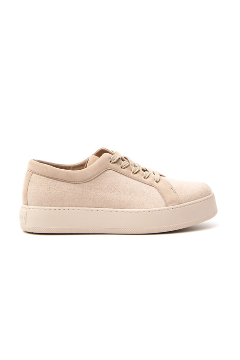 Lace-up sneakers in drap Diffusione Tessile
