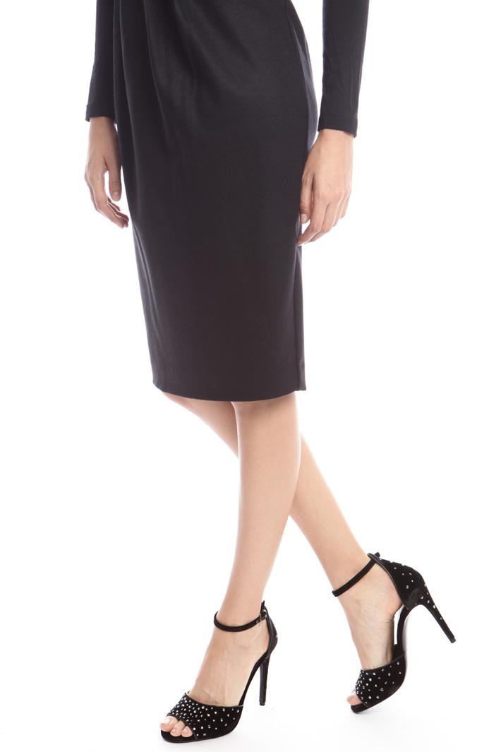 Sandali in velluto e strass Diffusione Tessile