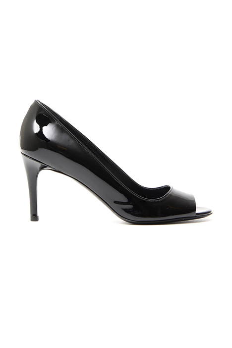 Patent leather open-toe sandal Diffusione Tessile
