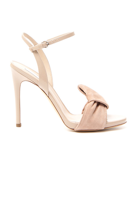 High-heel leather sandals Diffusione Tessile