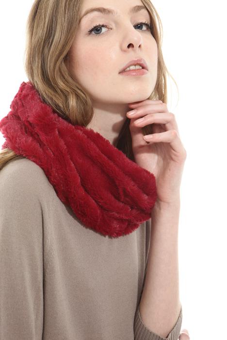 Faux-fur circle scarf Diffusione Tessile