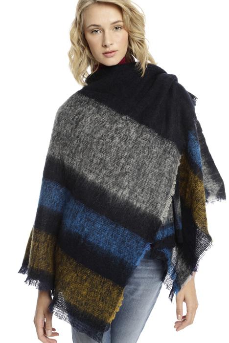 Poncho in misto lana Diffusione Tessile