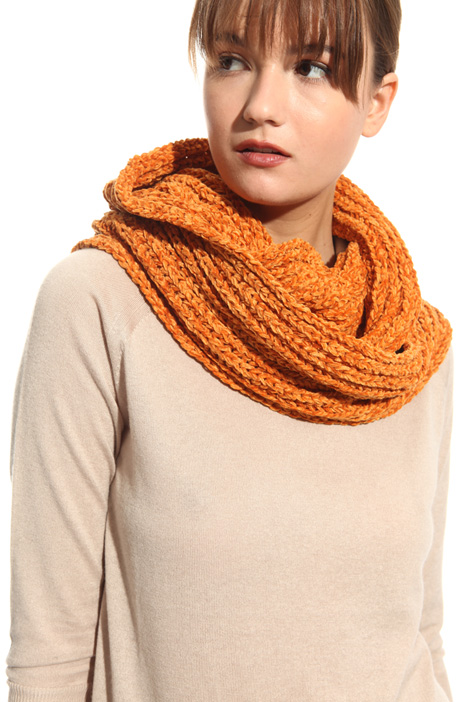Ribbed chenille circle scarf Intrend