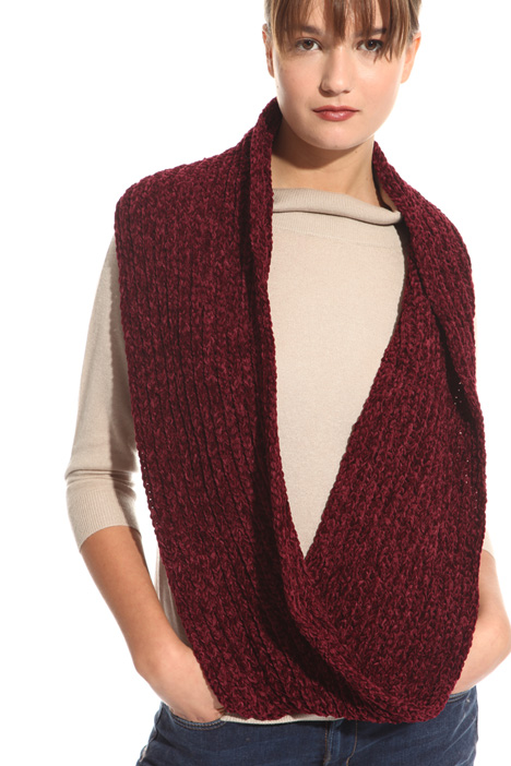 Ribbed chenille circle scarf Diffusione Tessile