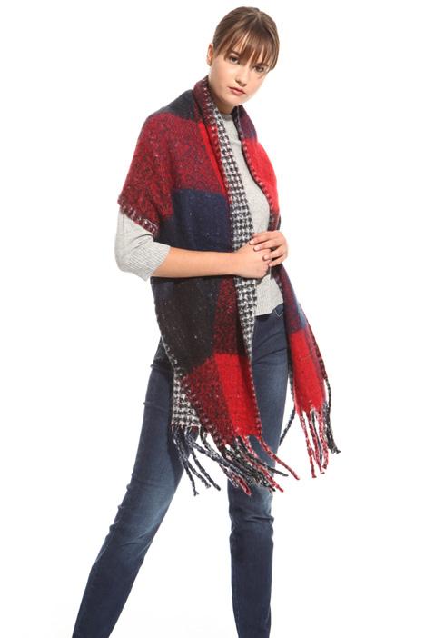 Maxi sciarpa con frange Diffusione Tessile