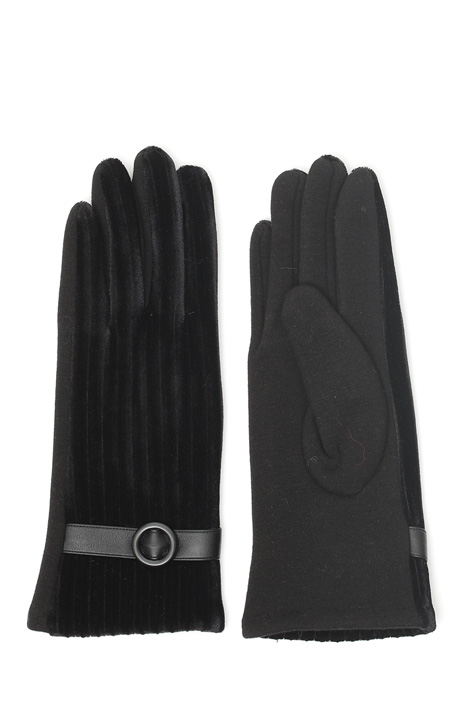Ribbed velvet gloves Diffusione Tessile