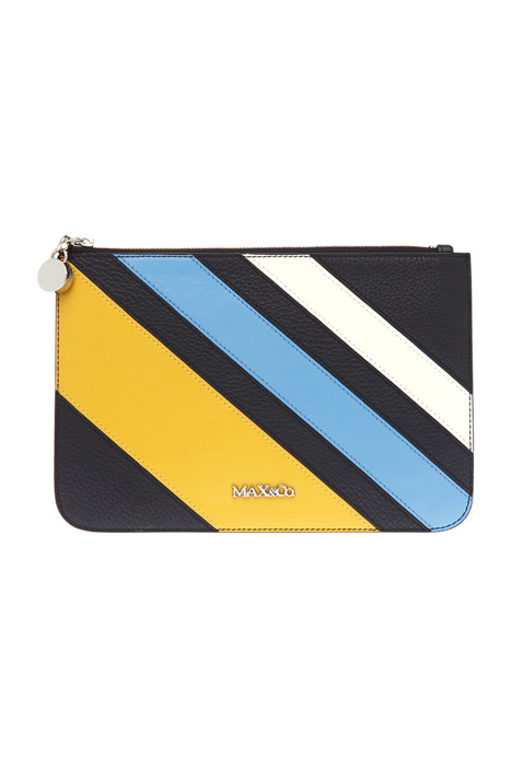 Envelope clutch in leather Diffusione Tessile