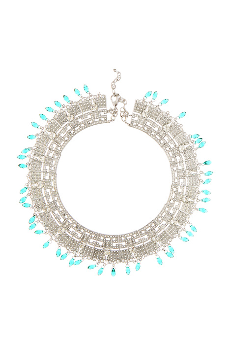 Rhinestone and gems collier Diffusione Tessile