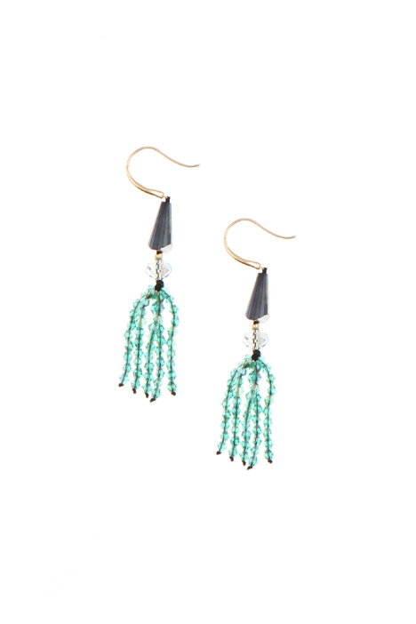 Pendant earrings with beads Diffusione Tessile