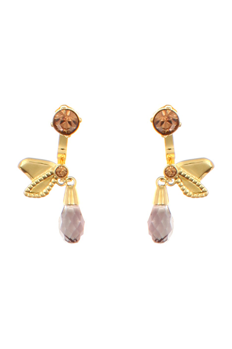 Drop-shape jewel earrings Diffusione Tessile