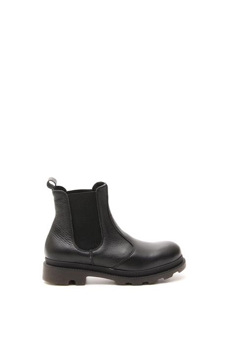 Tumbled leather boots Diffusione Tessile