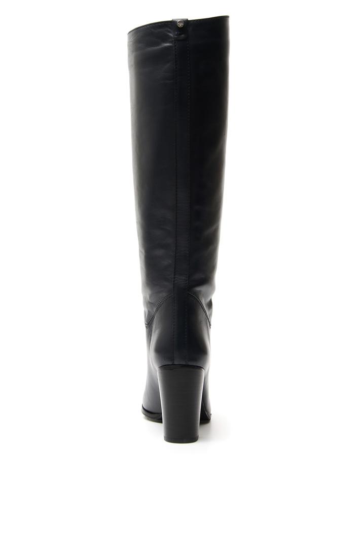 Stivali in pelle liscia Diffusione Tessile