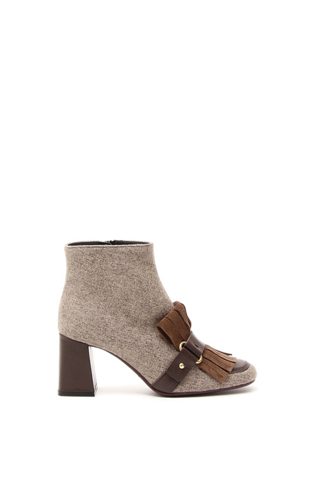 Fringed boots Diffusione Tessile