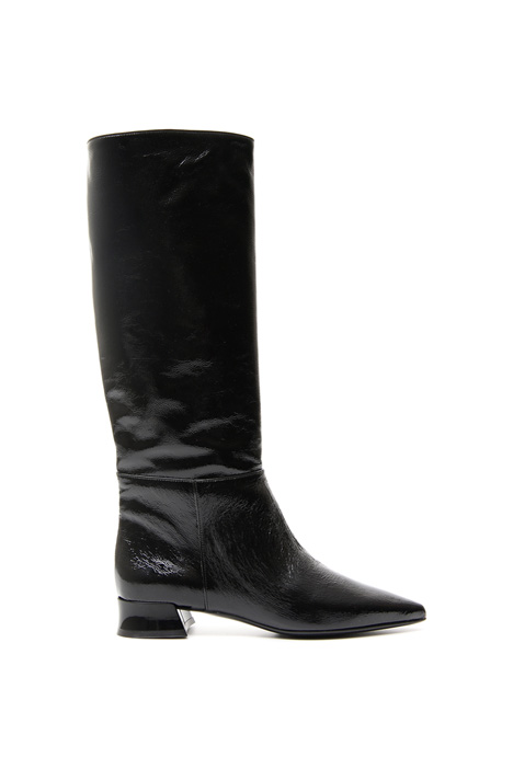 Patent leather high boots Diffusione Tessile