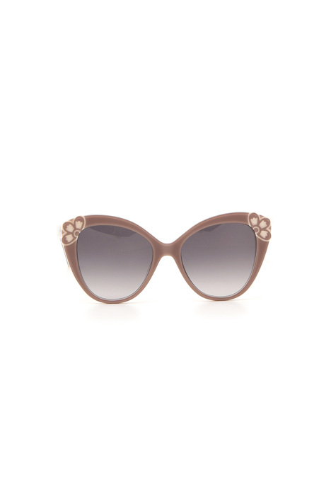 Decorated cat-eye sunglasses Diffusione Tessile