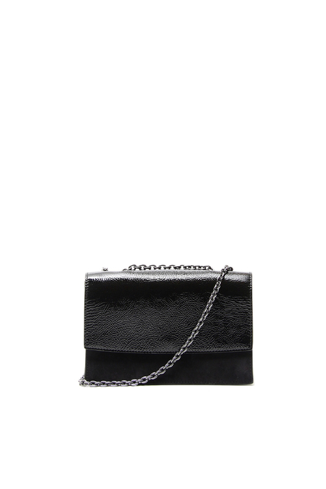 Patent leather and suede bag Intrend
