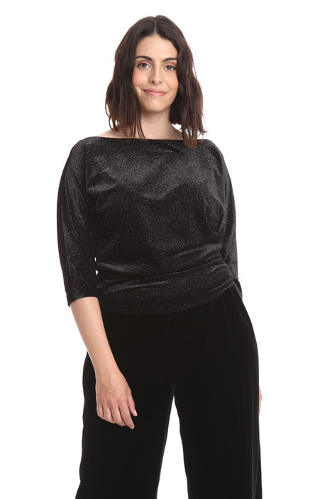 Lurex velvet T-shirt Intrend