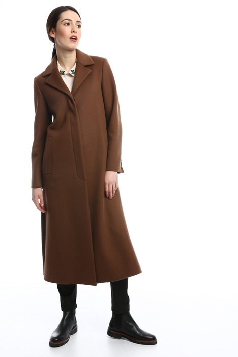 Long double wool coat Diffusione Tessile