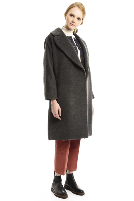Brushed wool coat Diffusione Tessile