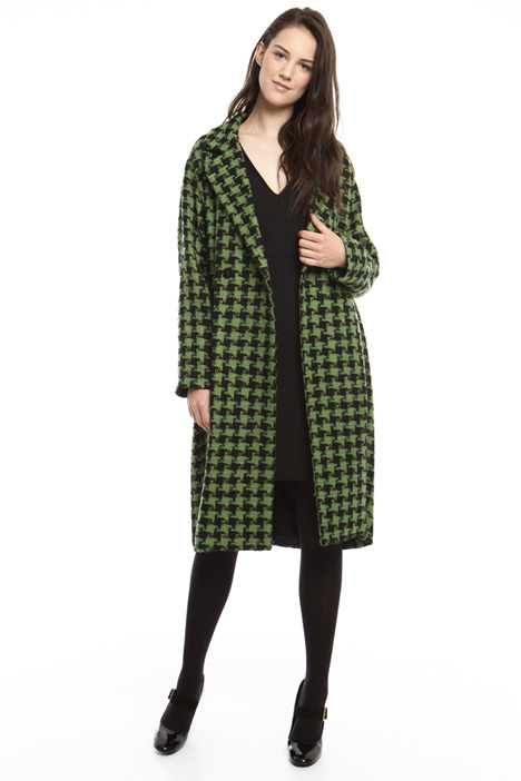 Oversized patterned coat Diffusione Tessile