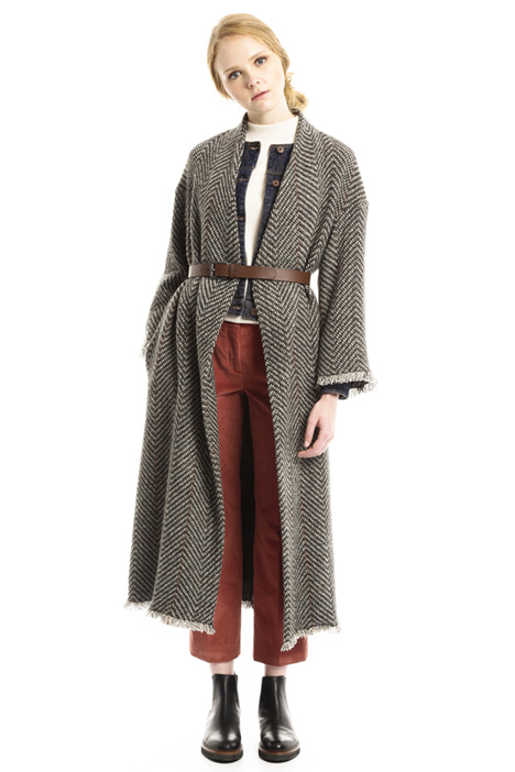 Long tweed coat Diffusione Tessile