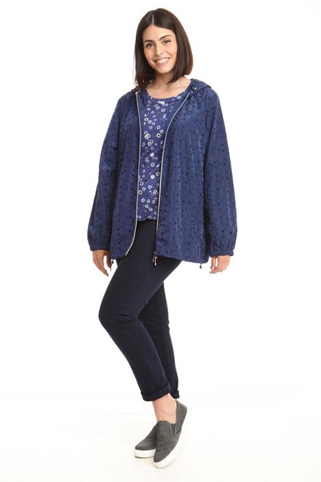 Short embroidered rain jacket Diffusione Tessile