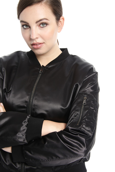 Double satin bomber  Intrend